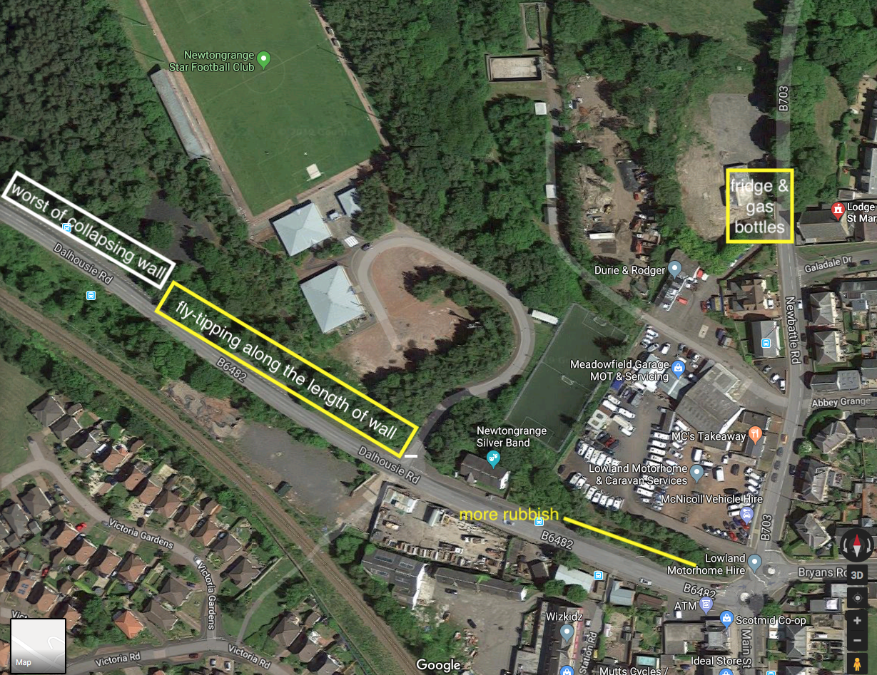 Fly-tipping-in-Newtongrange-map