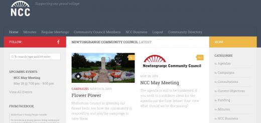 Screen Shot of NCC website