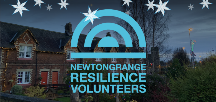Newtongrange Street Christmas Lights with NRV Logo