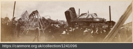 Historical image of a funfair
