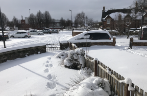 The Beast from the East Newtongrange streets locked in deep snow