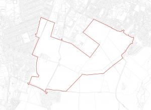 Map of Springfield dev reaching from Mayfield, Newtongrange to Gorebridge